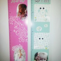 Custom printed growth charts personalized and applied to coroplast for easy hanging