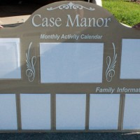 Clear pockets make this board be easily kept up-to-date as information changes day to day