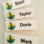Custom Name Tags are designed with logo and changeable vinyl for names as people come and go