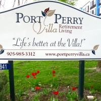 Port Perry Villa is a good client whom we work very well with. One pne call and the job gets done quickly and precisely... nearly every sign created for them inside and out, is a Sue's Signs Job!