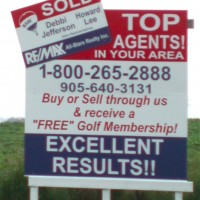 Many signs we create are for real estate companies on billboards in fields, especially for entire areas mapped out for lots.