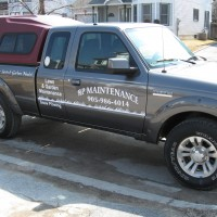 This customer started with a business card, then went to a flyer, stickers for machinery, then his truck. One Stop Shop!