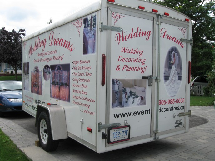 Use your trailer as your advertising billboard - when wanting to get the message across about what your business is about!
