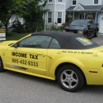 You've heard of the Tax Man? Well here comes the Tax Car! VERY noticeable and stylish - great way to advertise your business!