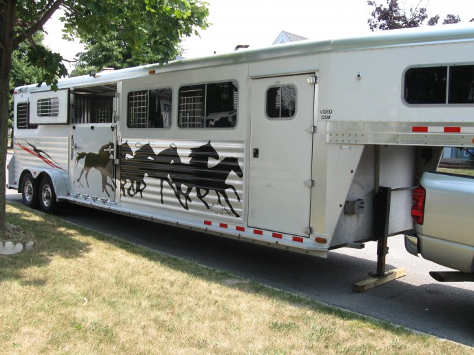 This client wanted a silhouette of running horses displayed on his truck with vinyl.... he was very pleased!