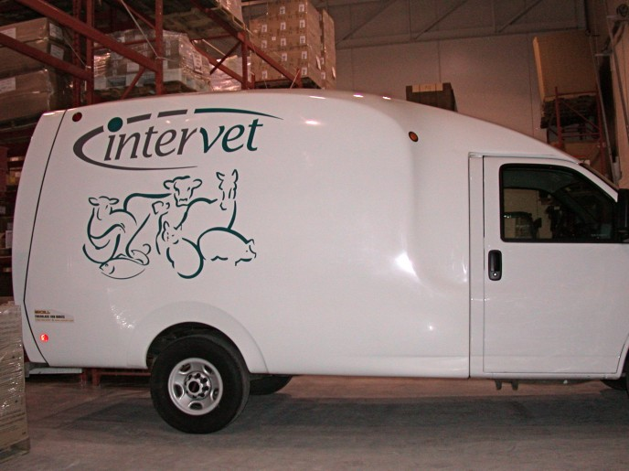 Quite often less is more when it comes to standing out - this clean look with vinyl on van is really attractive.
