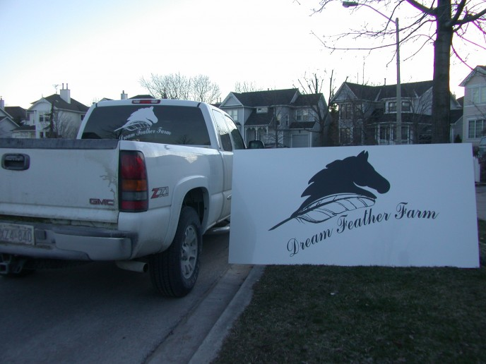 """This customer started with cards, then went to vehicle, and location sign for outside his stables... great use of taking """"look"""" throughout different platforms."""