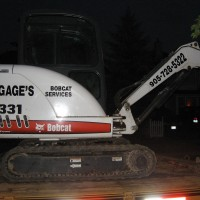 This Bobcat was appearing on a TV show so client thought he may as well advertise his business at the same time - great idea!