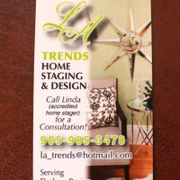 single sided business cards designed for home staging company