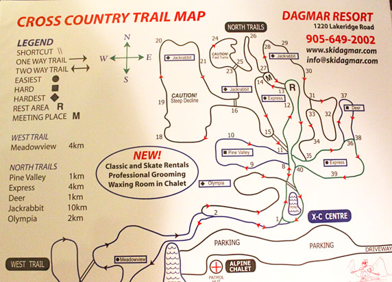 Designed by Sue for ski resort for wayfinding routes to handout to customers