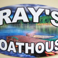 Perfect as a gift for the husband who has everything! Now he has his own personalized boathouse sign!
