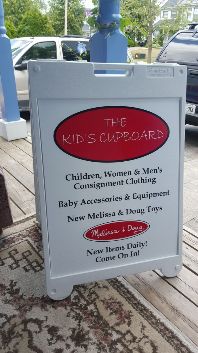 Catchy Sandwich Board does the trick to attract customers!